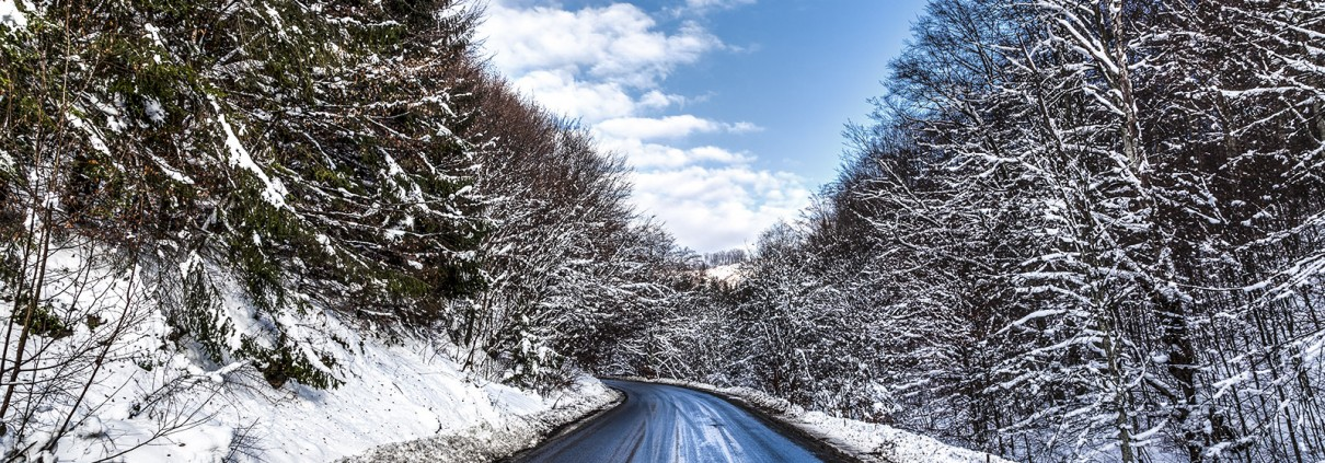 Snowy-ish road