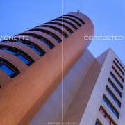Mercure Hotel, Algiers, Algeria. Optical vignette example.