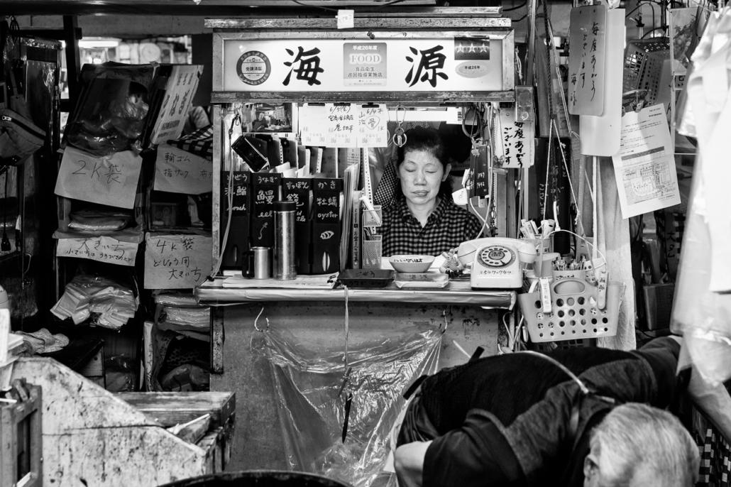 Tsukiji Fish Market, Tokyo, Japan, 2015.