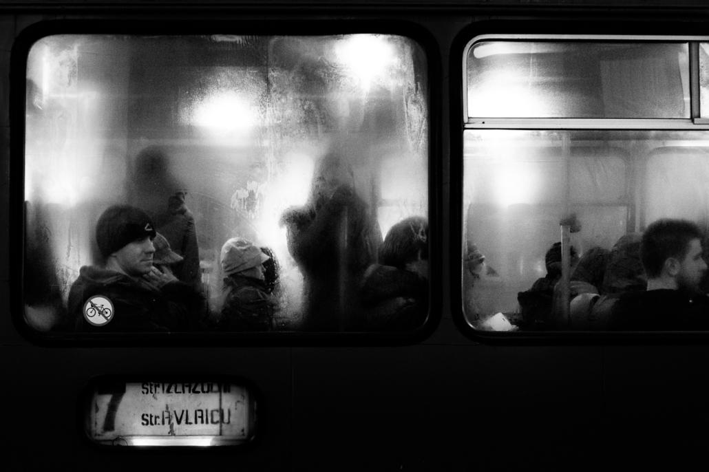 Public transportation. Cluj-Napoca, Romania.