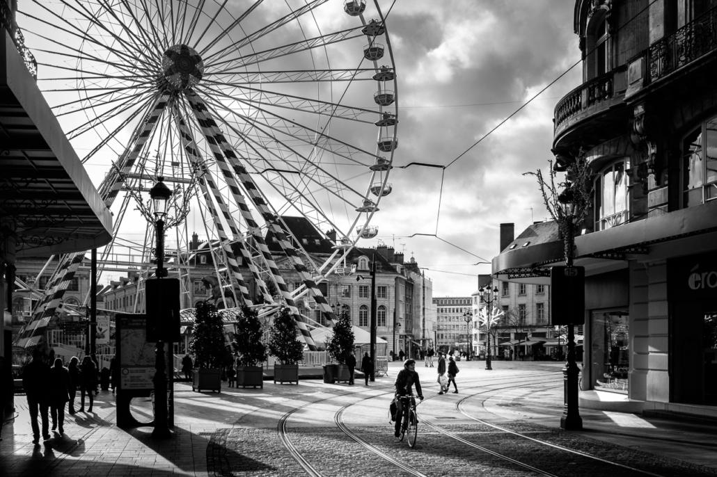 Big wheel, small wheels. Orléans, Loiret, France.