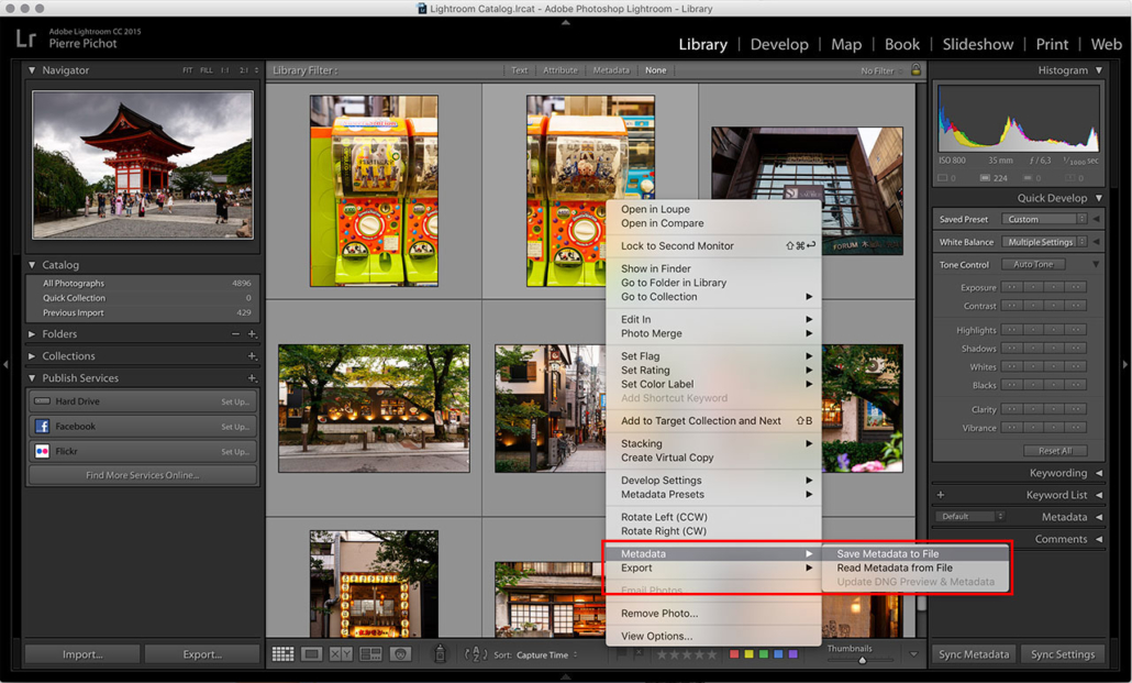 Lightroom Smart Previews - Save Metadata to File