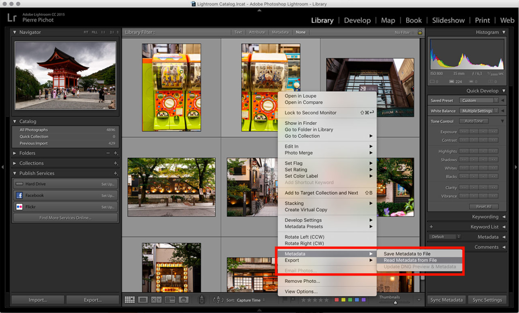 Lightroom Smart Previews - Read Metadata from File