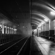 Strangers in the dark VII. Cluj-Napoca station, Romania.