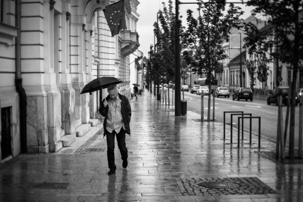 Sad man. Shot with Lensbaby Twist 60 @ Ä5.6. Cluj-Napoca, Romania, 2016.