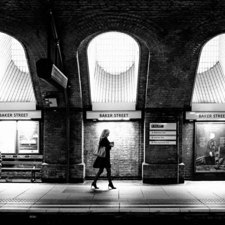 Baker Street Underground station. Londres, Angleterre, 2016.&nbspObtenir un tirage d'art !