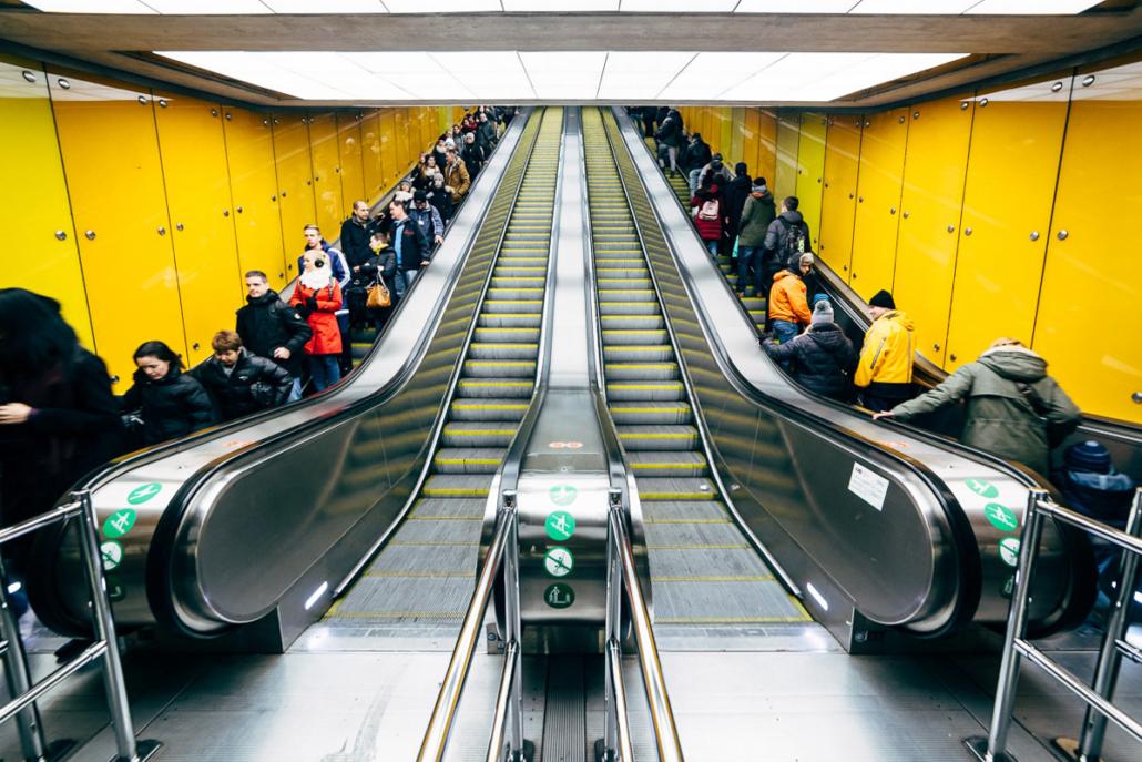Kalvin Ter station. Budapest, Hungary, 2016.