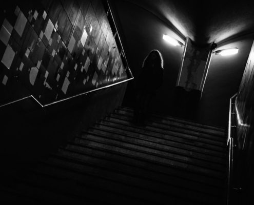 Ghost in the stairs. Cluj-Napoca, Romania, 2017.