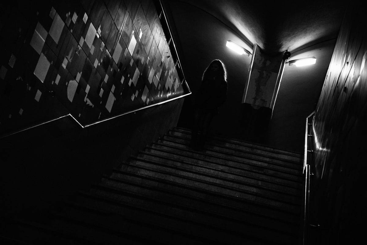 Ghost in the stairs. Cluj-Napoca, Roumanie, 2017.