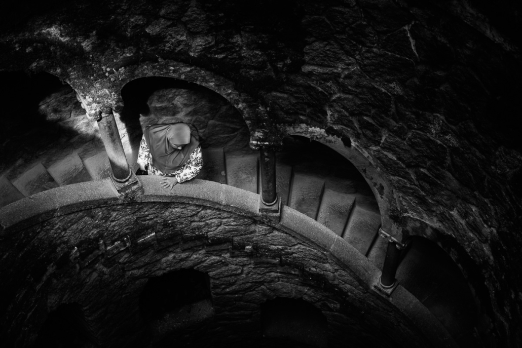 Down the well. Quinta da Regaleira, Sintra, Portugal, 2017.