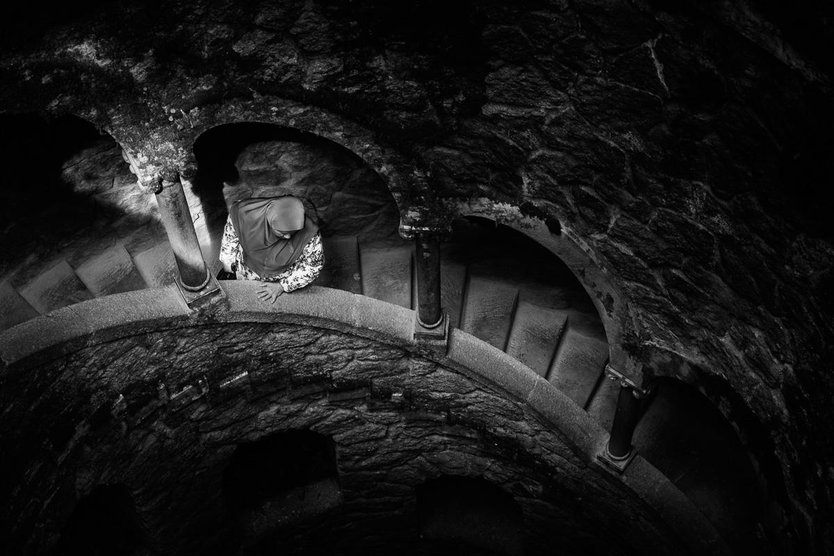 Down the well. Quinta da Regaleira, Sintra, Portugal, 2017.
