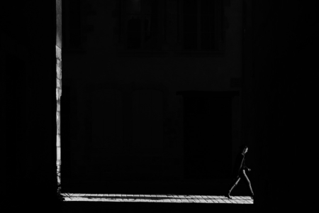 A glimpse of light. Orléans, France, 2017.