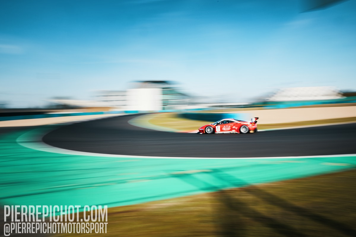 Ferrari 488 GT3 Evo - Pagny, Perrier, Bouvet - Team Visiom Ultimate Cup Series - GT Endurance - Race Circuit de Nevers-Magny-Cours, France, 2020.